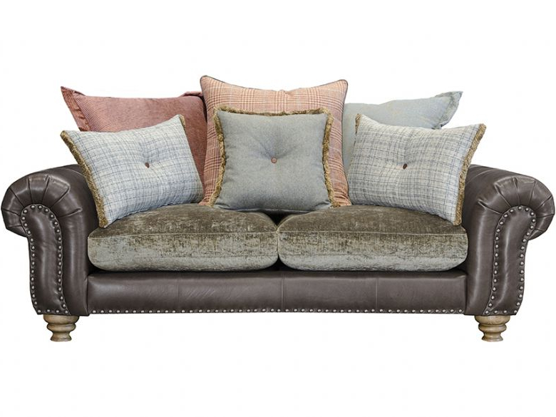 Lyvia Pillowback Sofa Sectional Sofas Pertaining To Widely Used Bloomsbury Small Pillow Back Sofa – Lee Longlands (View 3 of 25)
