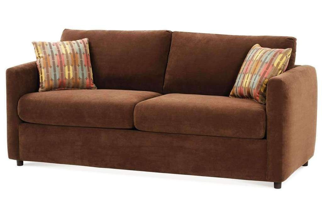 Lyvia Pillowback Sofa Sectional Sofas With Favorite City Small Spaces Fabric Pillow Back Queen Sleeper Sofa (View 8 of 25)