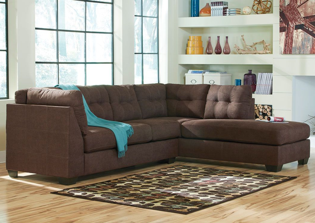 Maier Walnut Left Arm Facing Chaise End Sectional Inside Most Recently Released 2Pc Maddox Left Arm Facing Sectional Sofas With Chaise Brown (View 4 of 25)