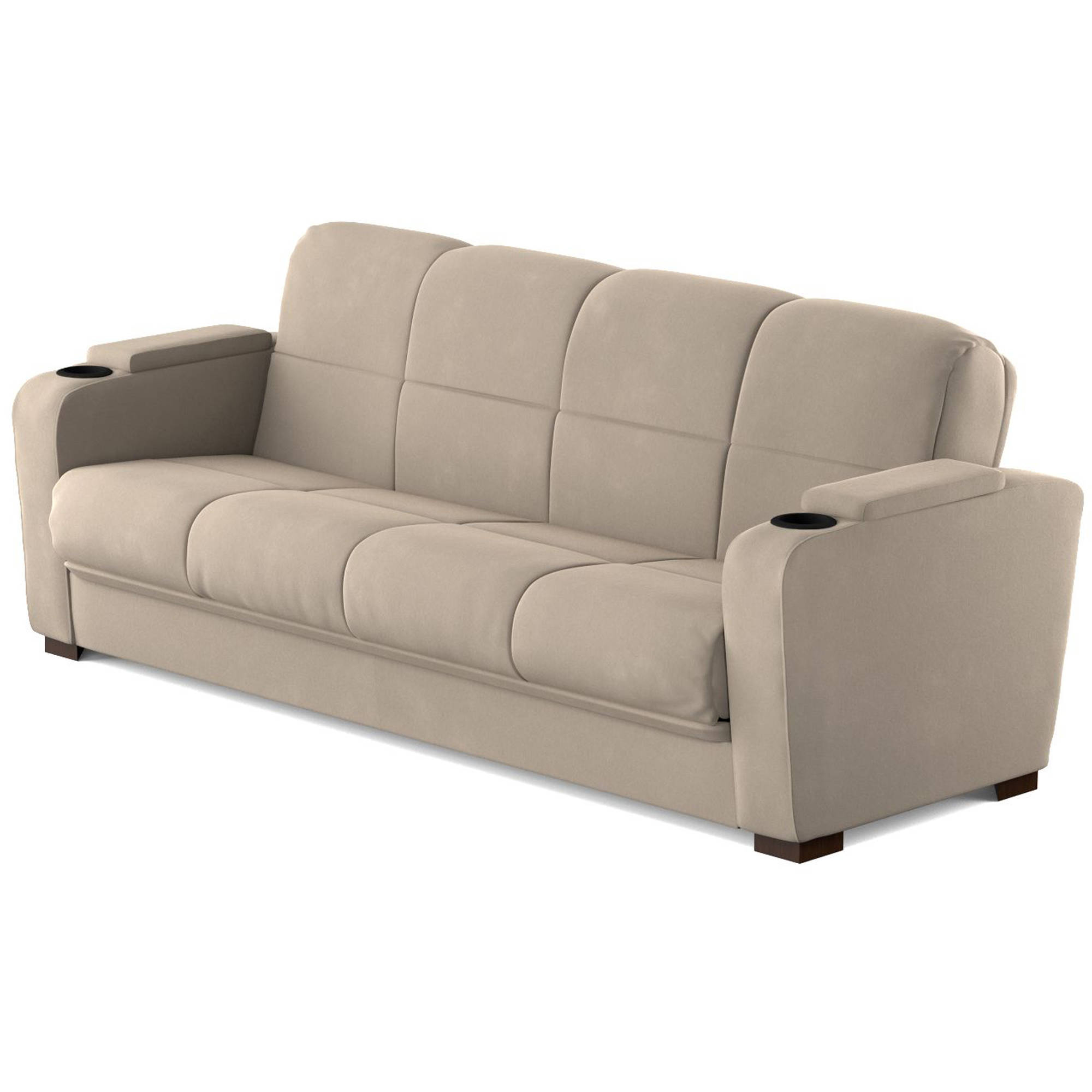 Mainstays Tyler Futon With Storage Sofa Sleeper Bed For 2018 Celine Sectional Futon Sofas With Storage Reclining Couch (View 4 of 25)