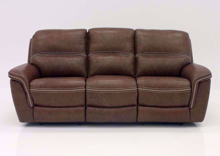 Mason Leather Power Reclining Sofa – Brown In Popular Expedition Brown Power Reclining Sofas (View 15 of 15)