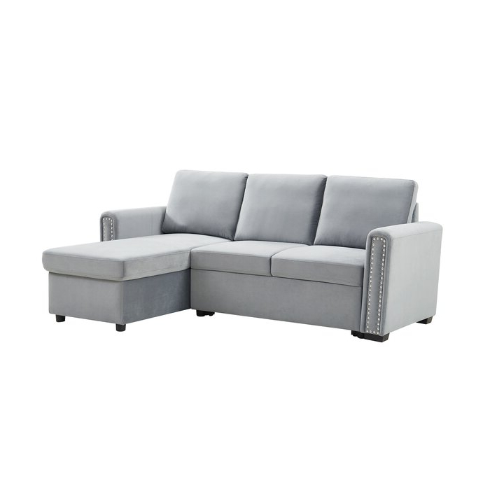 """Mercer41 83"""" Convertible Sectional Sofa Couch, 3 Seater L Intended For Most Recent Live It Cozy Sectional Sofa Beds With Storage (View 21 of 25)"""