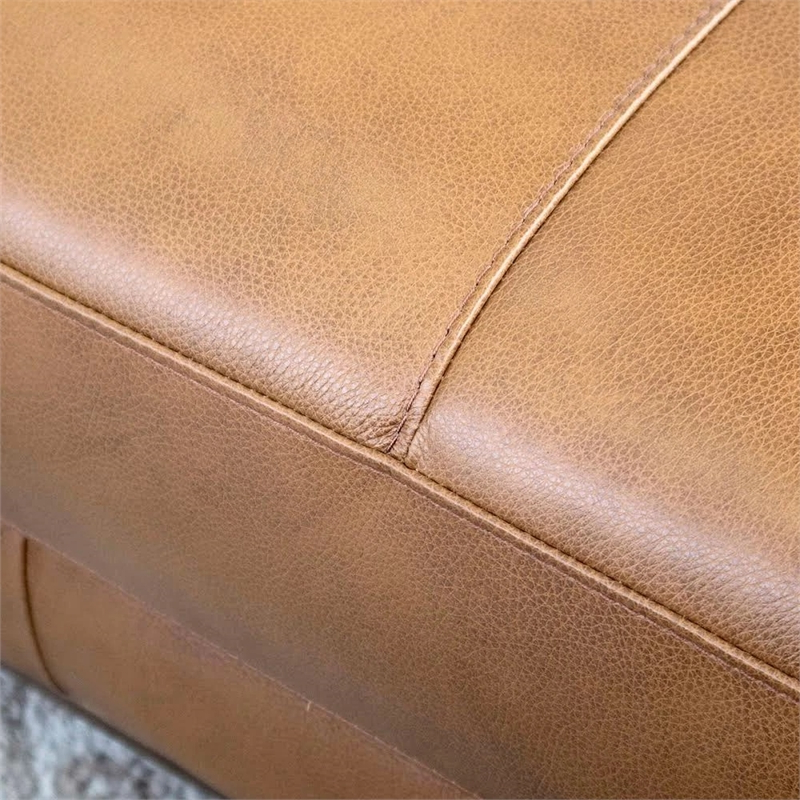 Mid Century Modern Milton Tan Leather Sectional Sofa For Widely Used Somerset Velvet Mid Century Modern Right Sectional Sofas (View 19 of 25)