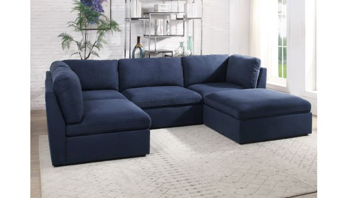 Milo Navy Blue Modular Sectional Set Inside Most Recently Released Dream Navy 2 Piece Modular Sofas (View 3 of 15)