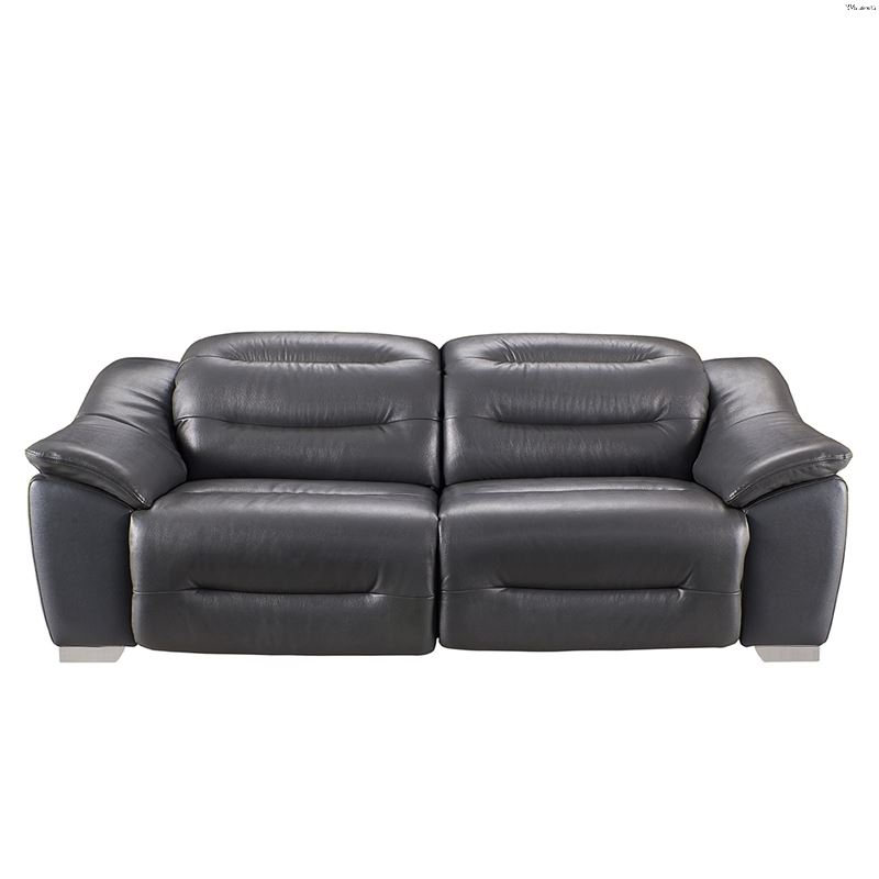 Modern 972 Dark Grey Leather Power Reclining Sofaesf Pertaining To Well Known Pacifica Gray Power Reclining Sofas (View 9 of 15)