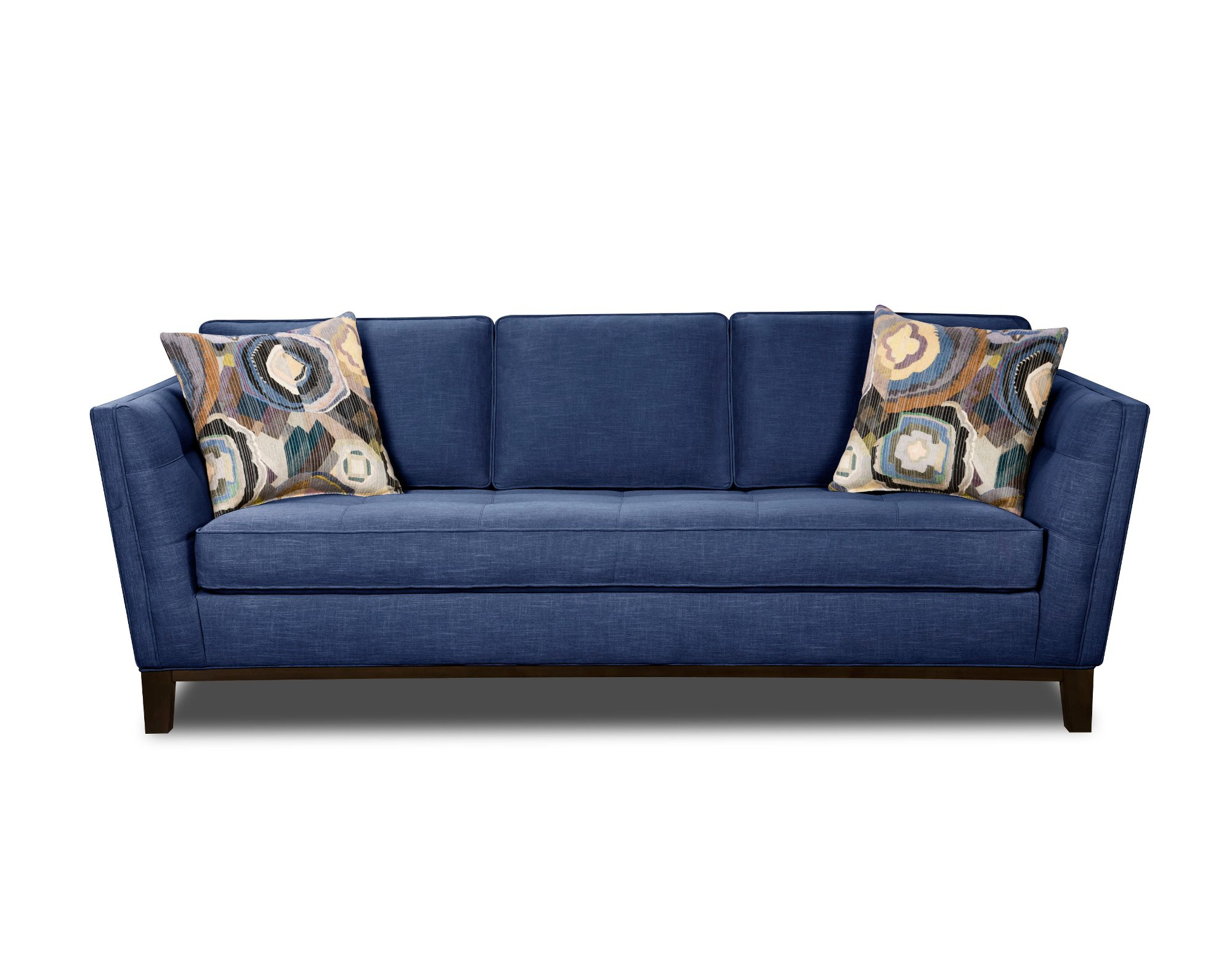 Modern Blue Sofa Modern Contemporary Cobalt Blue Sofa For Well Known Dulce Mid Century Chaise Sofas Dark Blue (View 13 of 25)