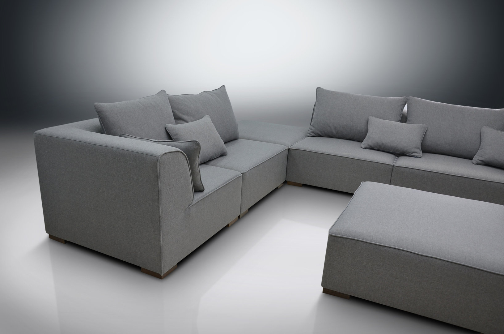 Modular Sofa Primo, 2Xcorners, 3Xchairs, 2Xfootstools For Well Known Dream Navy 3 Piece Modular Sofas (View 12 of 15)