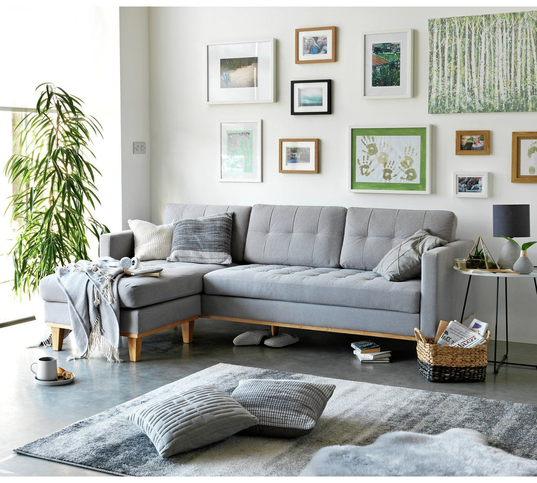 Molnar Upholstered Sectional Sofas Blue/Gray Intended For Favorite Buy Hygena Aliso Reversible Corner Chaise Sofa – Light (View 2 of 25)