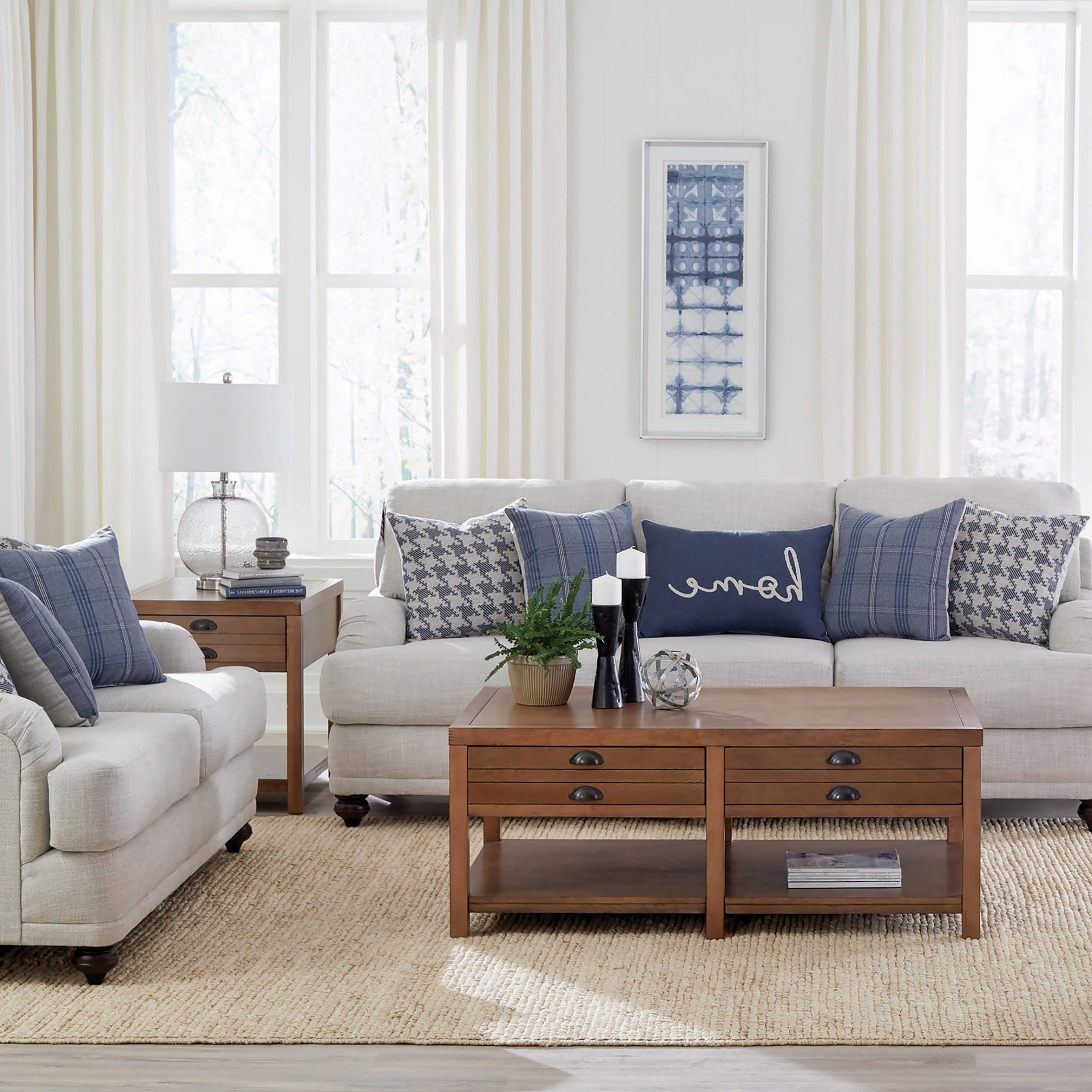 Molnar Upholstered Sectional Sofas Blue/Gray Regarding Most Current Gwen Recessed Arms Sofa Light Grey – Coaster Fine Furniture (View 15 of 25)