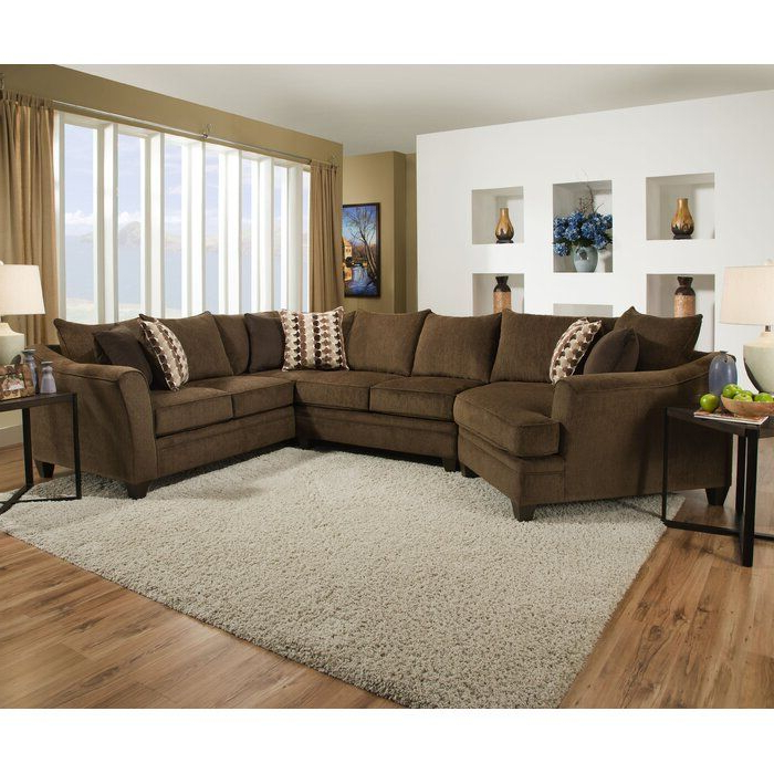 """Monet Right Facing Sectional Sofas For Favorite Latitude Run Teri 154"""" Right Hand Facing Sectional In  (View 25 of 25)"""