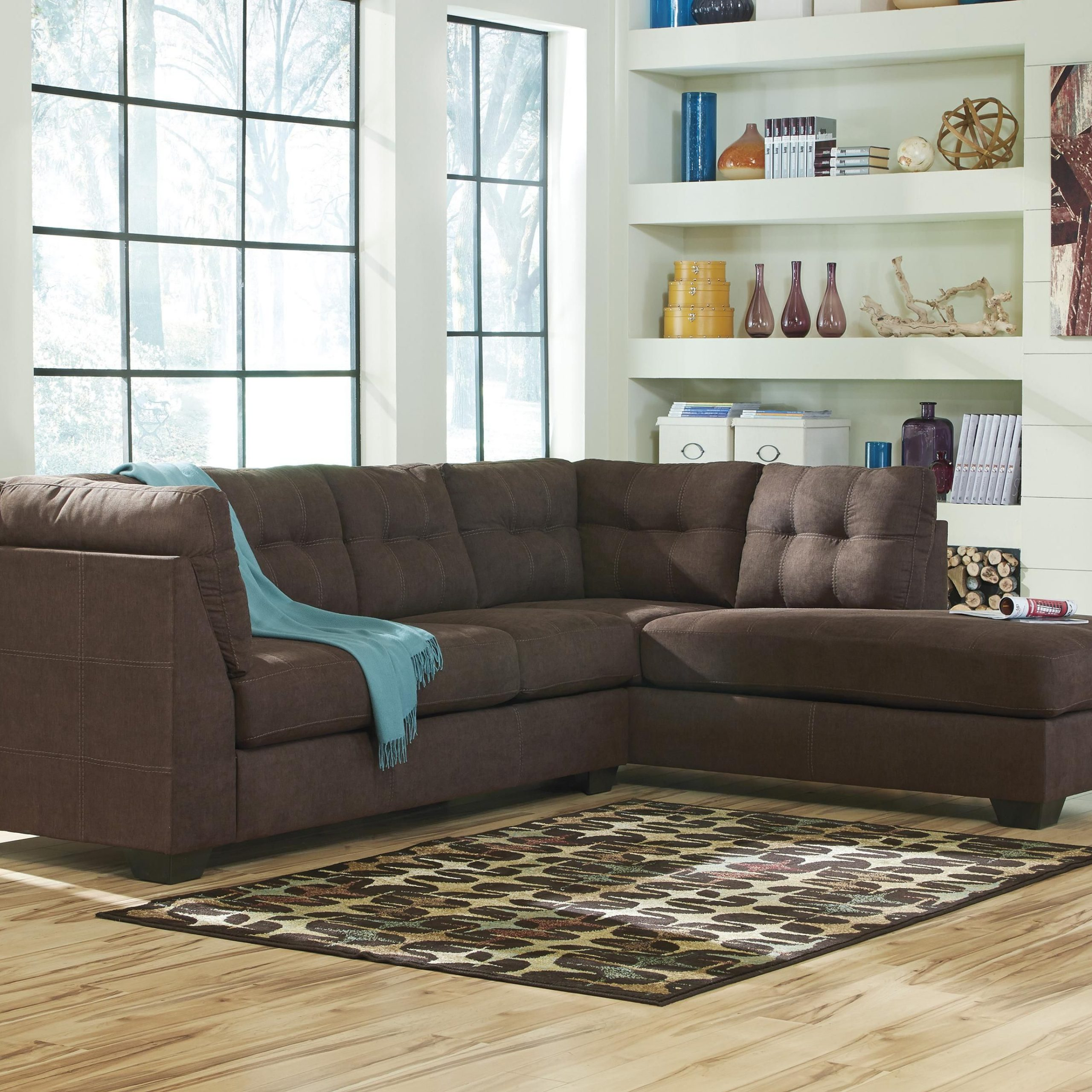 Most Current 2Pc Maddox Right Arm Facing Sectional Sofas With Chaise Brown Pertaining To Maier – Walnut 2 Piece Sectional With Left Chaise (View 2 of 25)