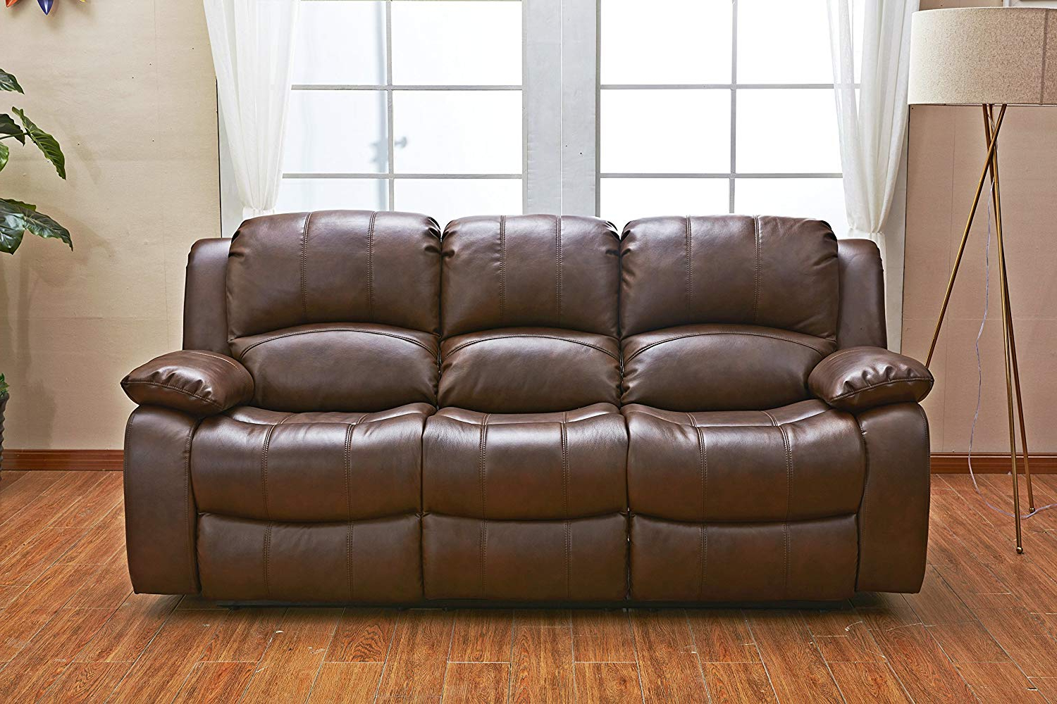 Most Current Betsy Furniture 3Pc Bonded Leather Recliner Set Living Throughout 3Pc Bonded Leather Upholstered Wooden Sectional Sofas Brown (View 21 of 25)