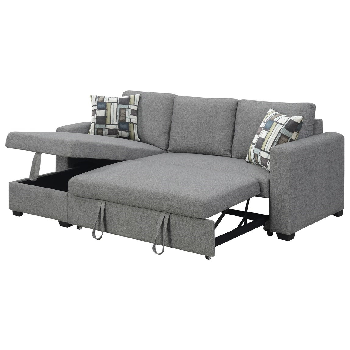 Most Current Copenhagen Reversible Small Space Sectional Sofas With Storage With Langley 2 Piece Sectional With Reversible Chaise (View 18 of 25)