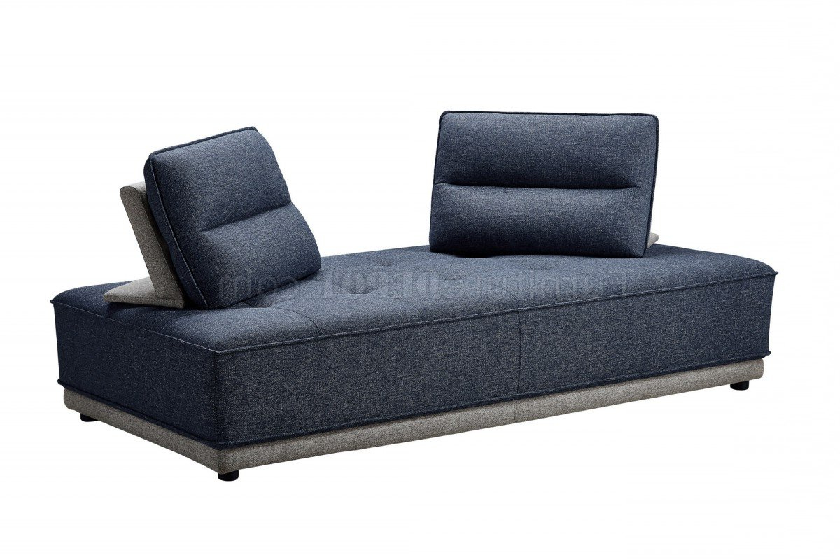 Most Current Glendale Sectional Sofa In Blue & Grey Fabricvig In Molnar Upholstered Sectional Sofas Blue/Gray (View 18 of 25)