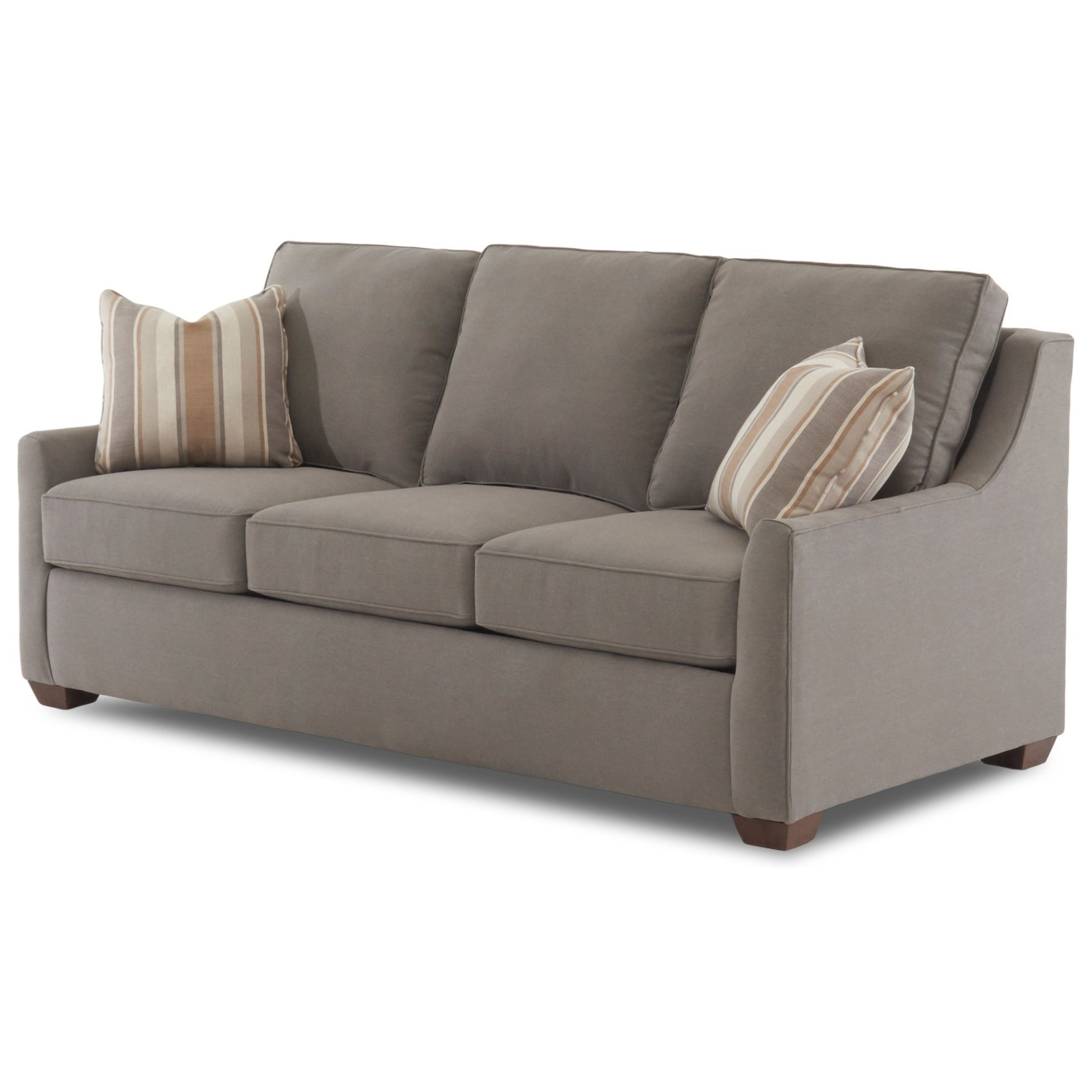 """Most Current Klaussner Fulton Contemporary 80"""" Sleeper Sofa With Air Intended For Debbie Coil Sectional Futon Sofas (View 24 of 25)"""