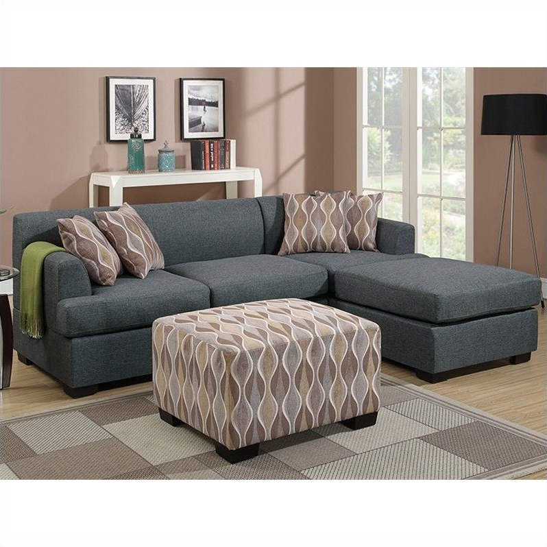 Most Current Molnar Upholstered Sectional Sofas Blue/Gray Within Poundex Bobkona Winfred 2 Piece Reversible Sectional Sofa (View 13 of 25)