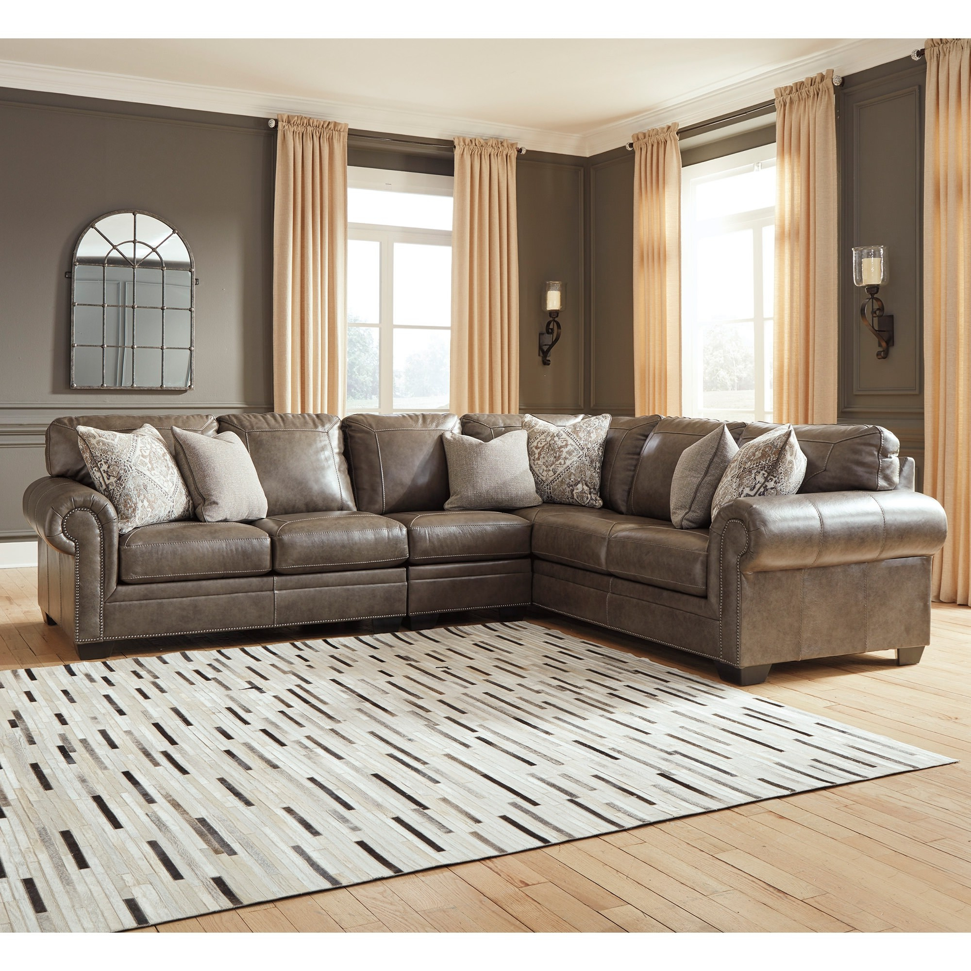 Most Current Roleson 3 Piece Sectional – Bernie & Phyl'S Furniture – With 3Pc Polyfiber Sectional Sofas (View 1 of 25)