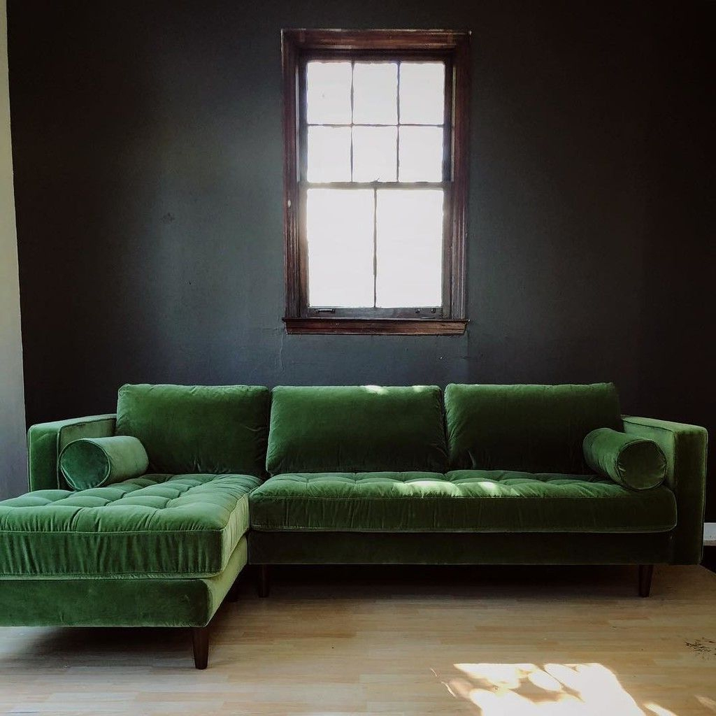 Most Current Sven Grass Green Left Sectional Sofa (View 16 of 25)