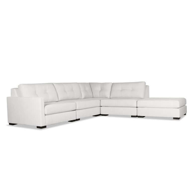 Most Current Wilton Fabric Sectional Sofas Inside Wilton Buttoned Modular Sectional Right Arm L Shape Left (View 3 of 25)