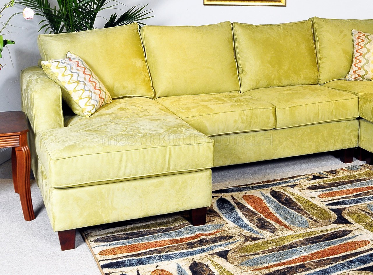 Most Popular Apple Fabric Contemporary 4Pc Sectional Sofa W/Wooden Legs In 4Pc Beckett Contemporary Sectional Sofas And Ottoman Sets (View 1 of 25)