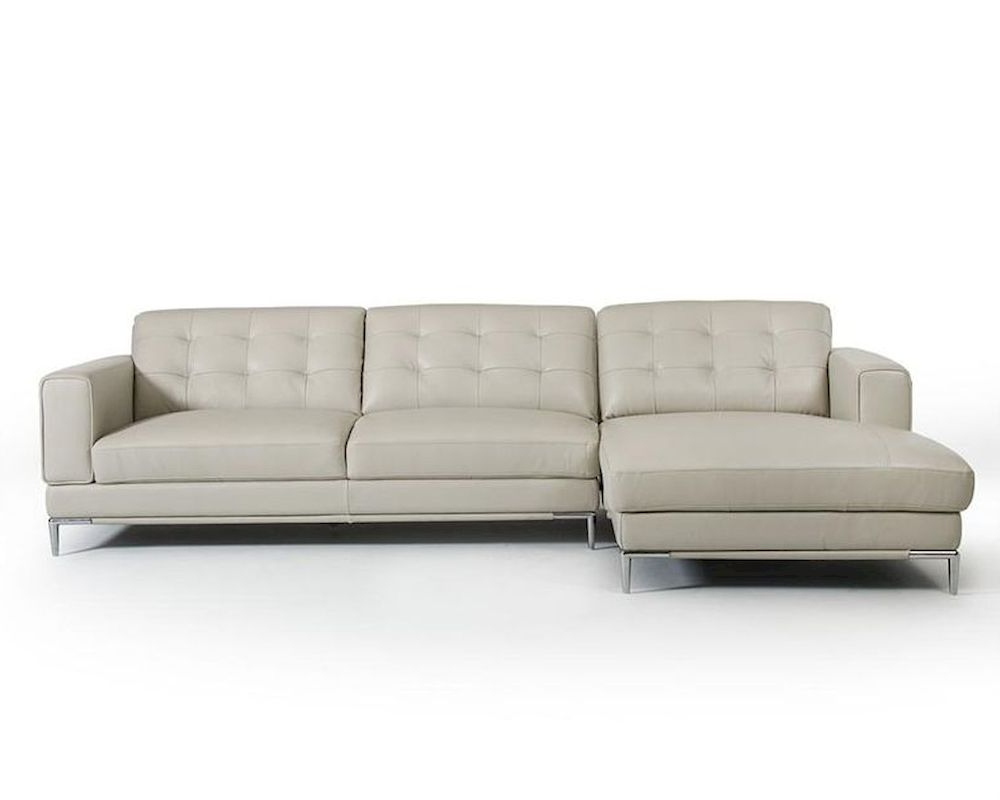 Most Popular Ludovic Contemporary Sofas Light Gray For Light Grey Leather Sectional Sofa In Contemporary Style (View 10 of 25)