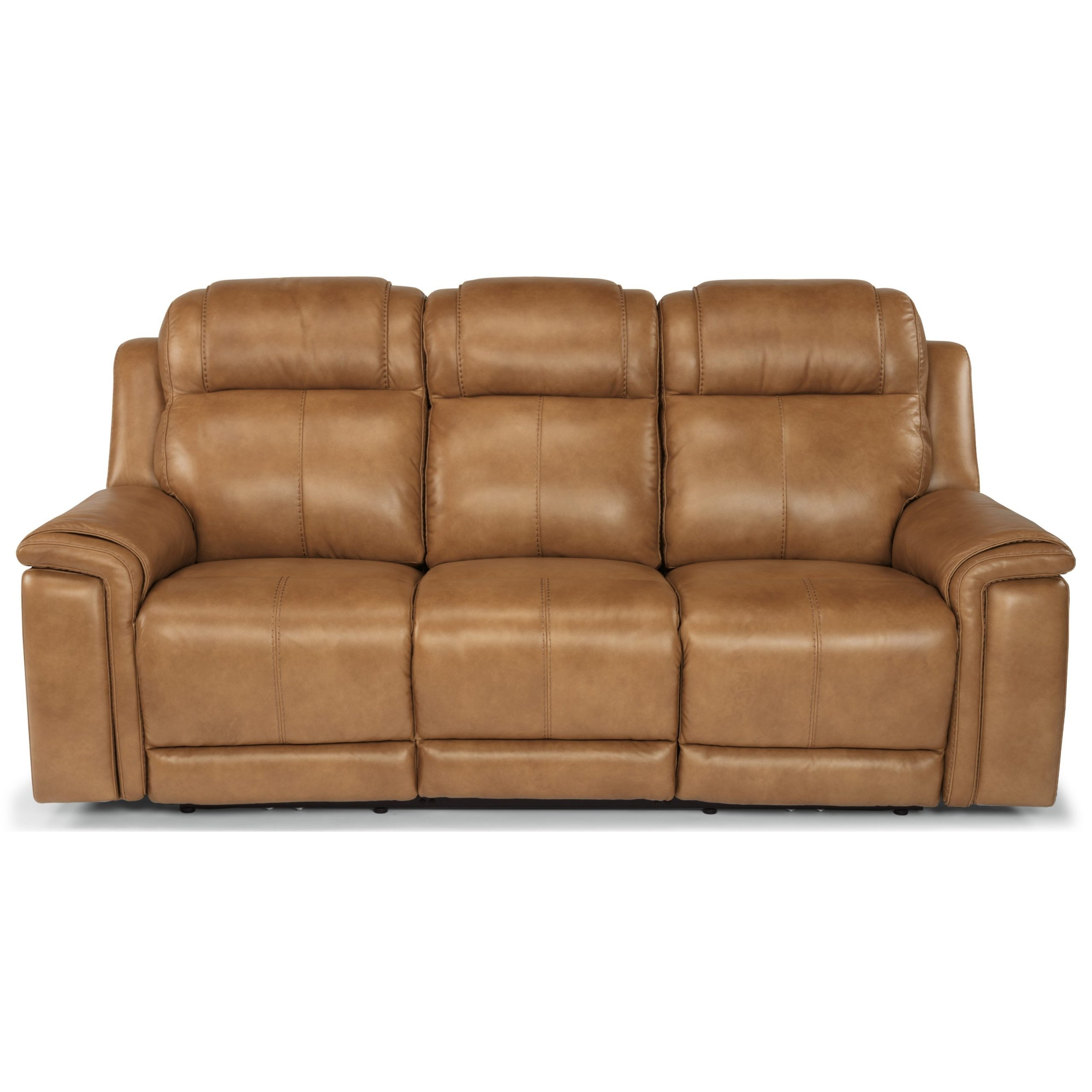 Most Popular Power Reclining Sofas With Regard To Flexsteel Latitudes – Kingsley Casual Lay Flat Power (View 2 of 15)