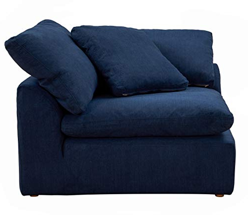 Most Popular Sunset Trading Cloud Puff Sectional, 4 Piece Slipcovered L Within Dream Navy 2 Piece Modular Sofas (View 10 of 15)