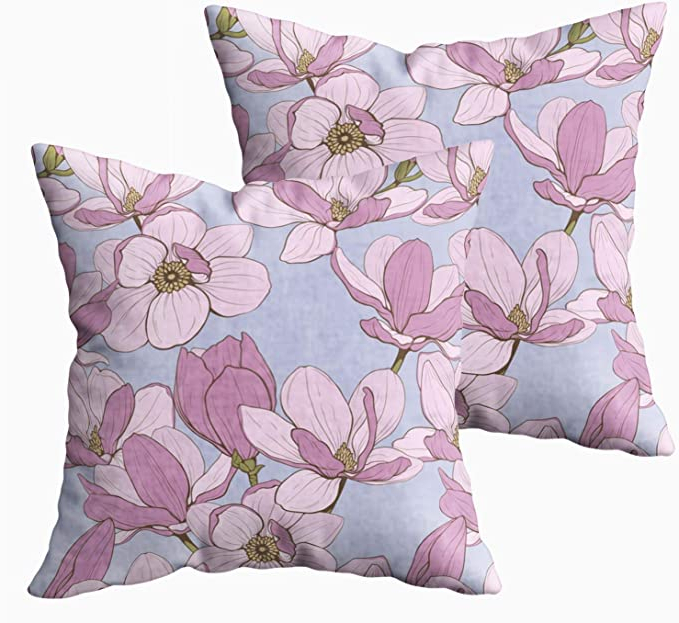 Most Recent Amazon: Emmteey 18X18 Pillow Covers, Pack 2 Pillow Pertaining To Magnolia Sectional Sofas With Pillows (View 9 of 25)