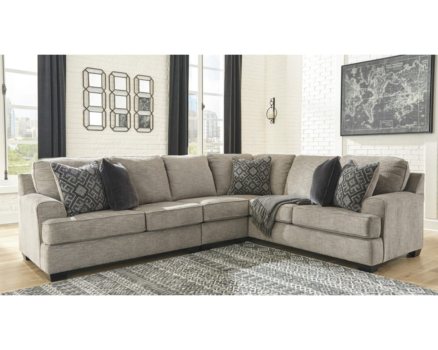 Most Recent Bovarian Stone 3 Piece Right Facing Sectional Sofa With Dulce Right Sectional Sofas Twill Stone (View 5 of 25)