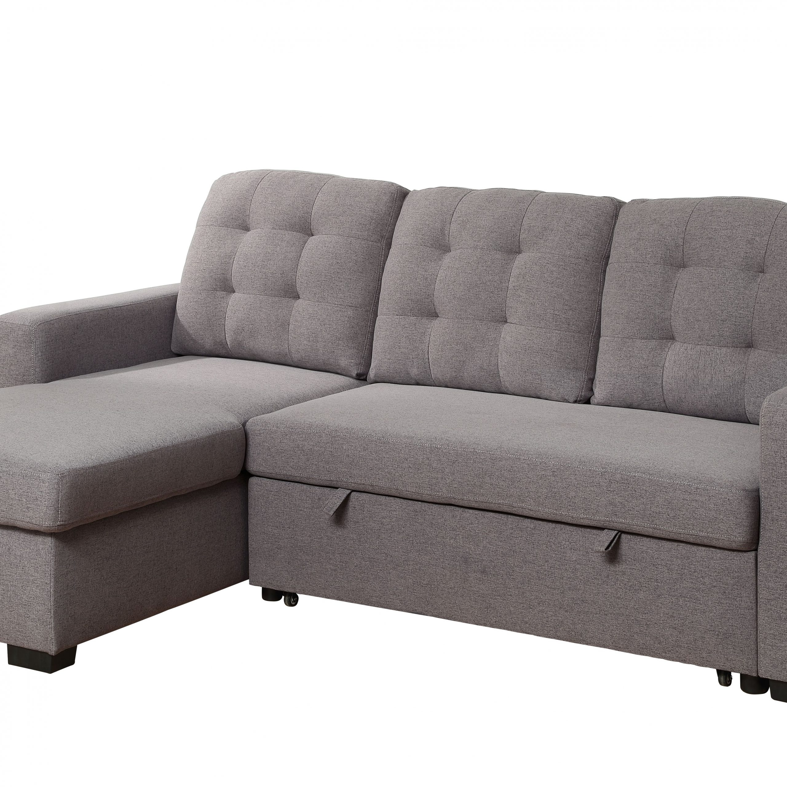 Most Recent Chambord Reversible Storage Sleeper Sectional Sofa In Gray Intended For Palisades Reversible Small Space Sectional Sofas With Storage (View 14 of 25)