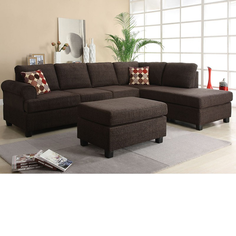 Most Recent Copenhagen Reversible Small Space Sectional Sofas With Storage Pertaining To Dreamfurniture – 50540 Donovan Butler Onyx Morgan (View 7 of 25)