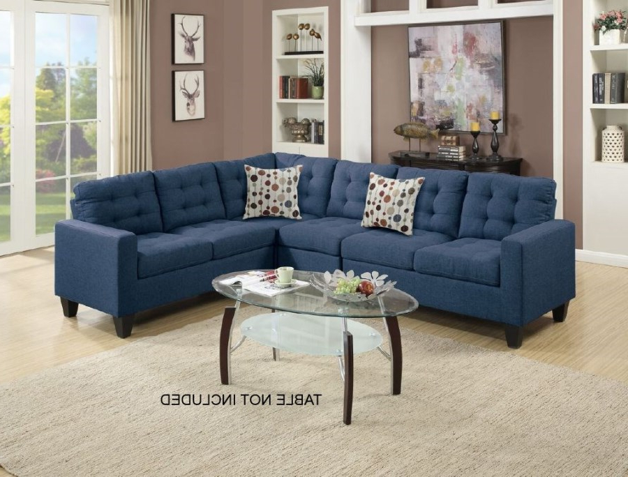 Most Recent Modern Navy Blue Modular Sectional Couch Sofa Set (View 11 of 25)