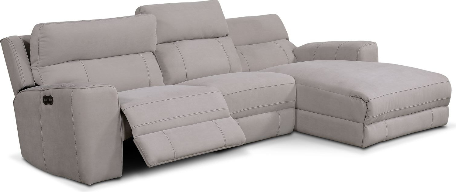 Most Recent Newport 3 Piece Power Reclining Sectional With Left Facing With Copenhagen Reclining Sectional Sofas With Left Storage Chaise (View 18 of 25)
