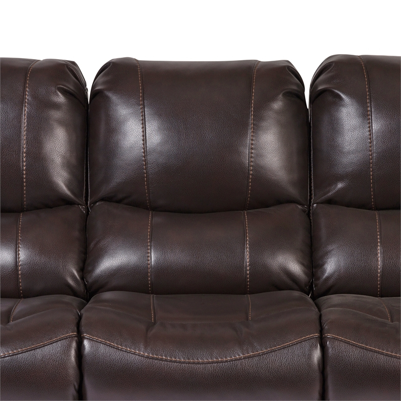 Most Recent Ramsey Transitional Triple Power Recliner Sofa – Brown Within Charleston Triple Power Reclining Sofas (View 12 of 15)