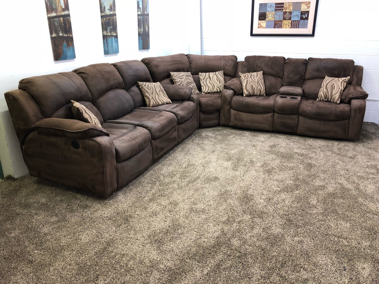 Most Recent (Reserved) #1260 3 Piece Dark Brown Microfiber Power Throughout Raven Power Reclining Sofas (View 5 of 15)