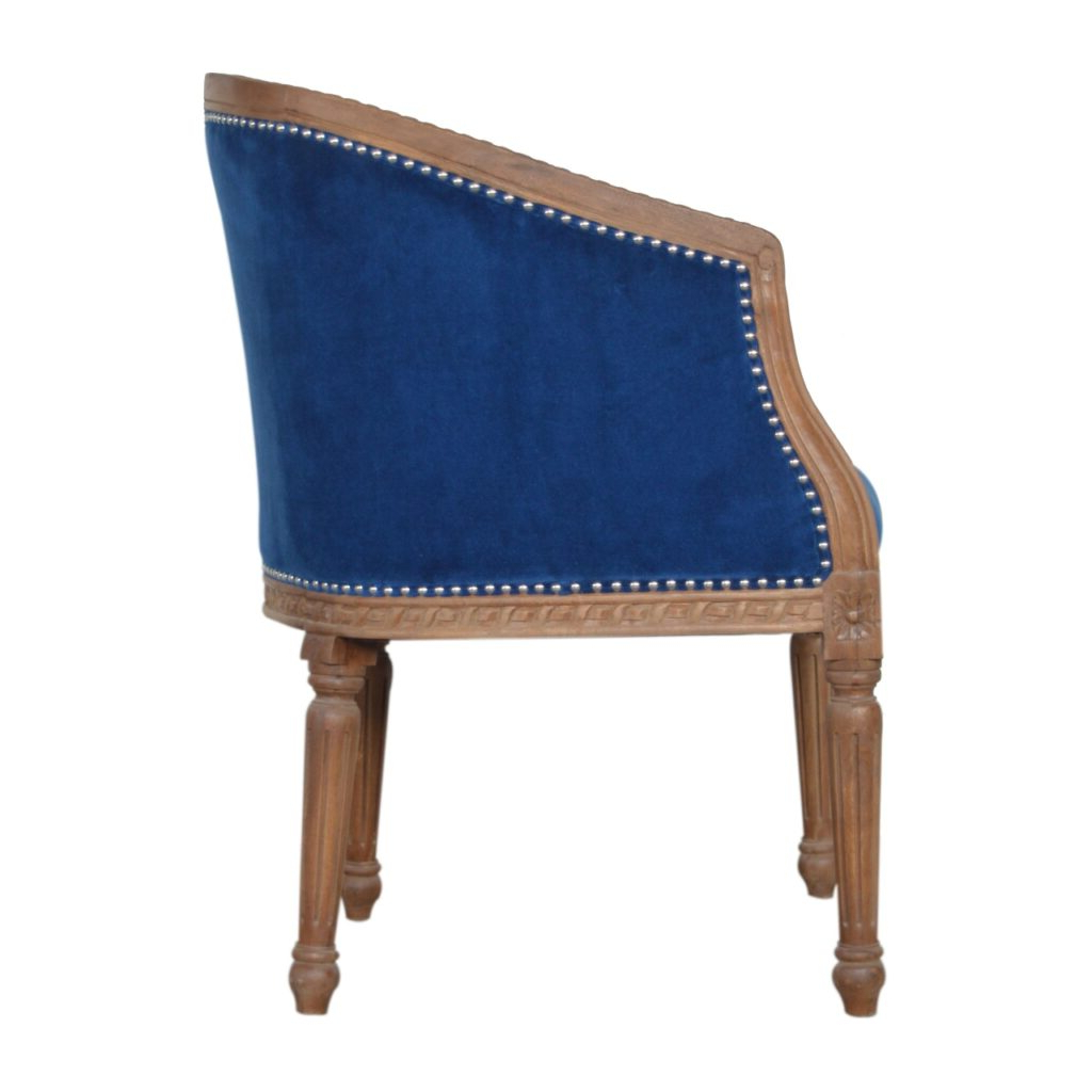 Most Recent Royal Blue Velvet Occasional Chair – Artisan Furniture Pertaining To Artisan Blue Sofas (View 7 of 15)