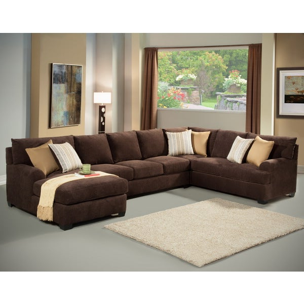 Most Recent Shop Furniture Of America Zian 3 Piece Modern Micro Denier In 3Pc Polyfiber Sectional Sofas With Nail Head Trim Blue/Gray (View 15 of 25)