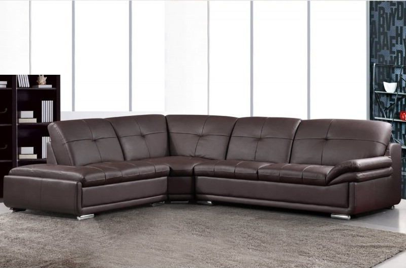 Most Recently Released 3 Pc Henderson Collection Brown Bonded Leather Sectional With Regard To 3Pc Bonded Leather Upholstered Wooden Sectional Sofas Brown (View 19 of 25)