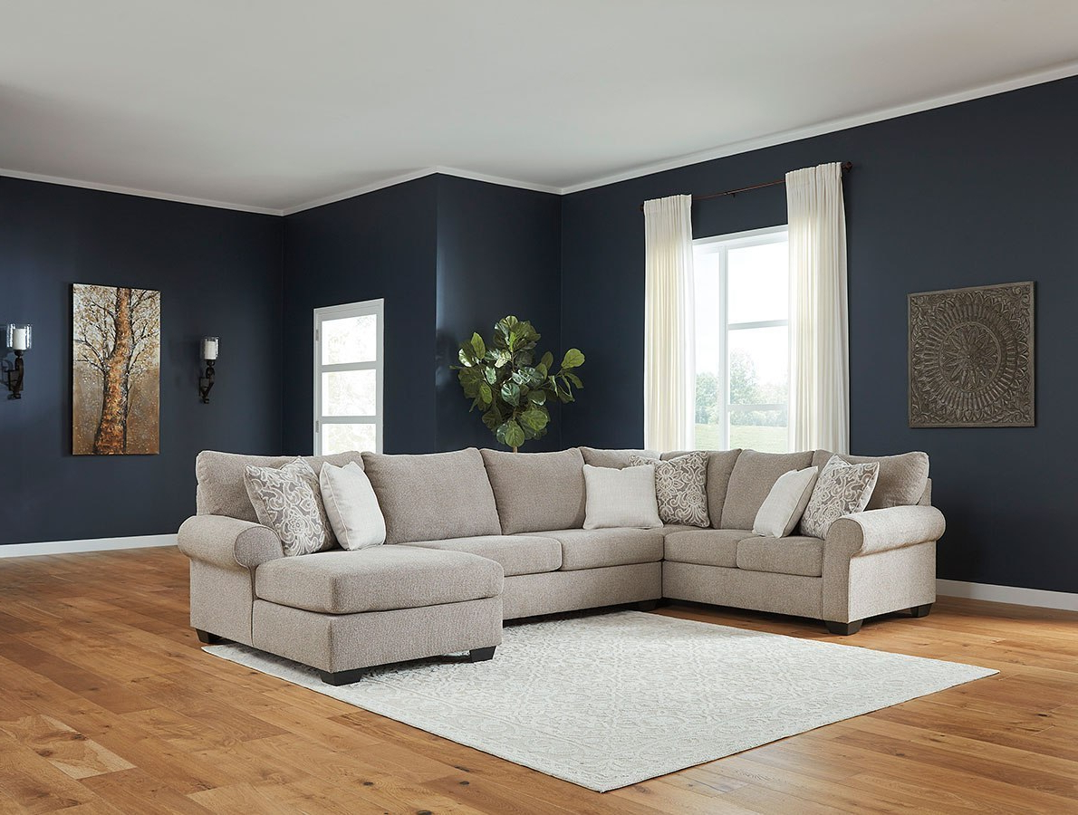 Most Recently Released Baranello Stone Sectional Set Signature Designashley Throughout Dulce Right Sectional Sofas Twill Stone (View 24 of 25)