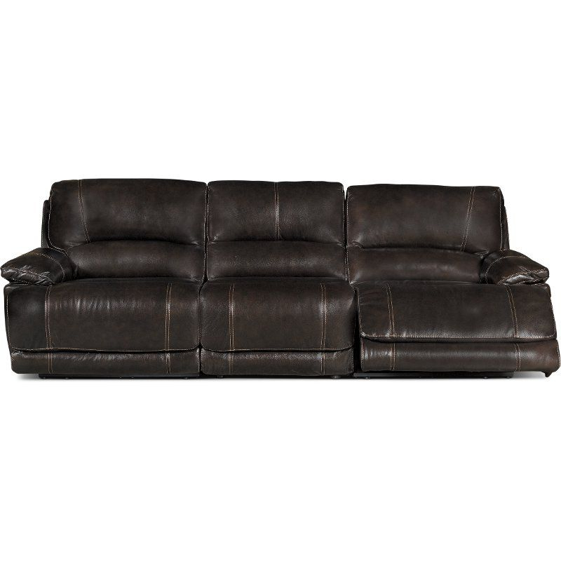 Most Recently Released Brown 3 Piece Manual Triple Reclining Sofa – Brant With Regard To Charleston Triple Power Reclining Sofas (View 13 of 15)