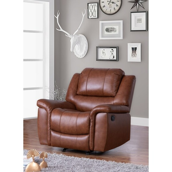 Most Recently Released Colby Manual Reclining Sofas For Shop Copper Grove Forbach Top Grain Leather Recliner (View 8 of 15)