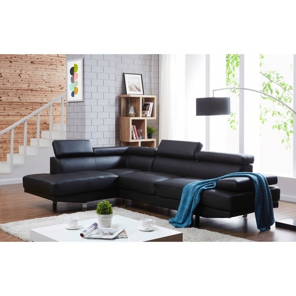 Most Recently Released Debbie Coil Sectional Futon Sofas With Debbie Faux Leather Right Facing Sectional Sofa – On Sale (View 17 of 25)