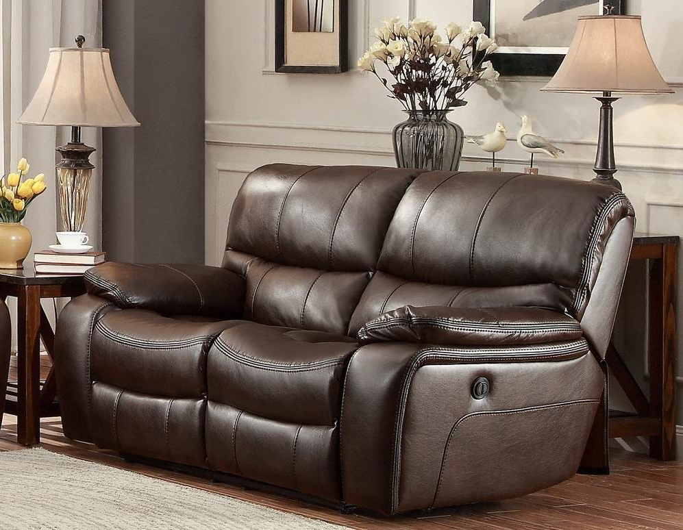 Most Recently Released Expedition Brown Power Reclining Sofas For Pecos Brown Power Double Reclining Loveseat From (View 6 of 15)