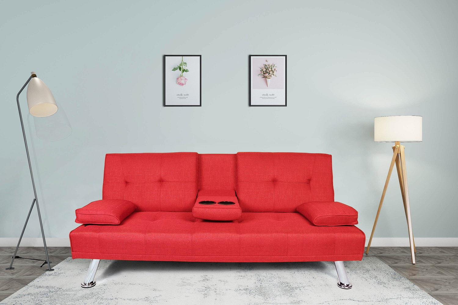 Most Recently Released Liberty Sectional Futon Sofas With Storage Regarding Futon Sofa Bed, Modern Twin Fabric Sofa Sleeper Bed With (View 2 of 25)