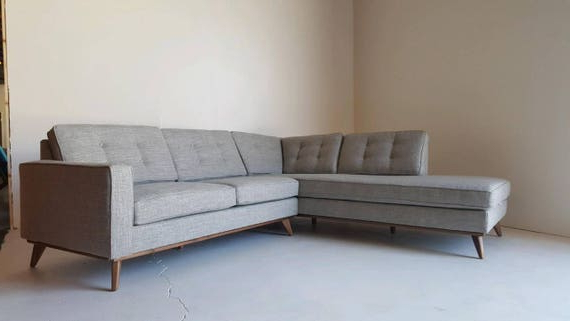 Most Recently Released Mid Century Modern Sectional Chaise Sofa Intended For Alani Mid Century Modern Sectional Sofas With Chaise (View 10 of 25)
