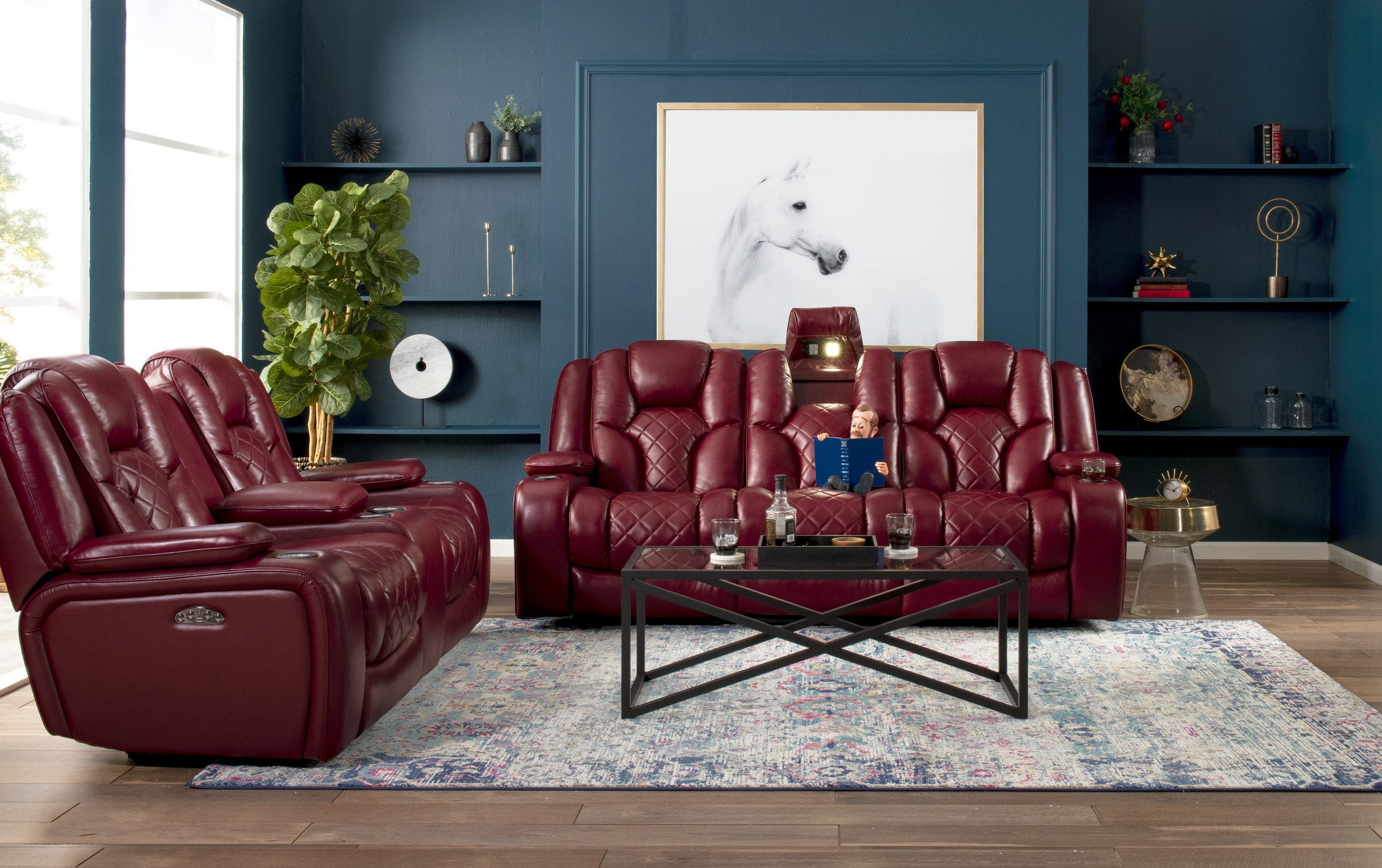 Most Recently Released Panther Fire Leather Dual Power Reclining Sofa – Latest Within Panther Fire Leather Dual Power Reclining Sofas (View 3 of 15)