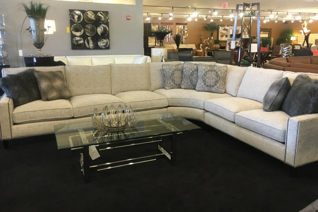 Most Recently Released Sectional With Nailhead Trim,Hathaway Leather Sectional In Radcliff Nailhead Trim Sectional Sofas Gray (View 21 of 25)