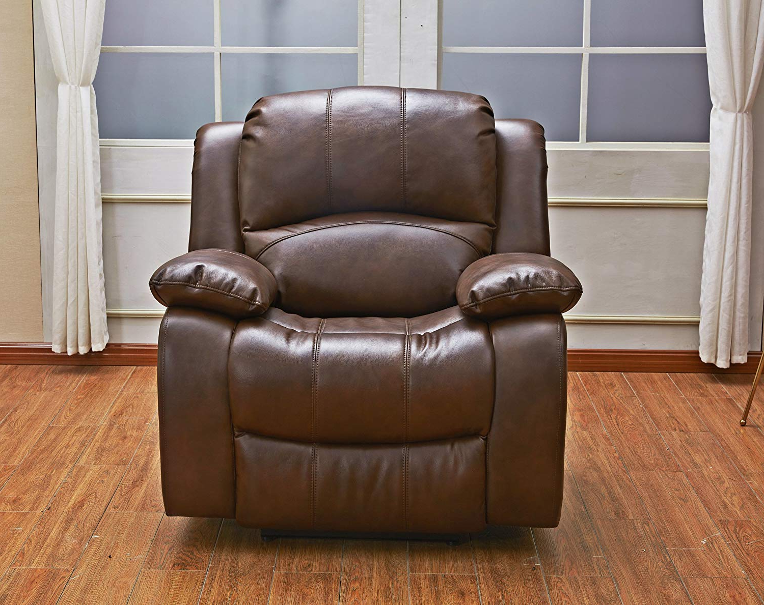 Most Up To Date 3Pc Bonded Leather Upholstered Wooden Sectional Sofas Brown Pertaining To Betsy Furniture 3Pc Bonded Leather Recliner Set Living (View 22 of 25)