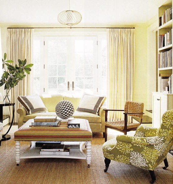 Most Up To Date 4Pc French Seamed Sectional Sofas Oblong Mustard Pertaining To Cream Living Room Walls Design Ideas (View 13 of 25)