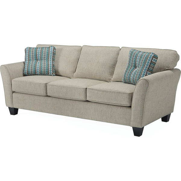 Most Up To Date Camila Poly Blend Sectional Sofas Off White With Regard To Broyhill Maddie Sofa – Overstock –  (View 4 of 25)